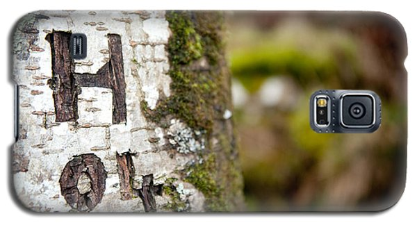 Tree Bark Graffiti - H 04 Galaxy S5 Case