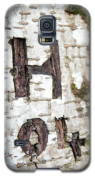 Tree Bark Graffiti - H 04 Galaxy S5 Case