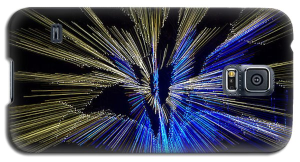 Tree Burst Of Blue And Yellow Galaxy S5 Case