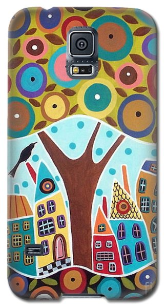 Blackbird Galaxy S5 Case - Tree Eight Houses And A Bird by Karla Gerard