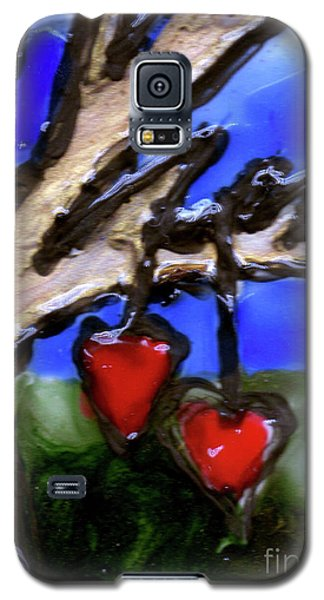 Galaxy S5 Case featuring the painting Tree Hearts by Genevieve Esson