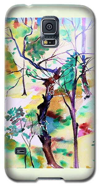 Galaxy S5 Case featuring the painting Tree Lovers by Mindy Newman