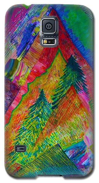 Galaxy S5 Case featuring the painting A Tree Motif by Polly Castor