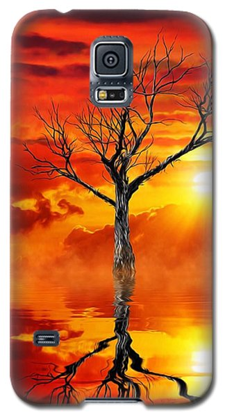 Galaxy S5 Case featuring the mixed media Tree Of Destruction by Gabriella Weninger - David