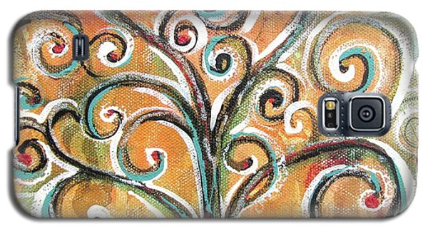 Galaxy S5 Case featuring the painting Tree Of Life by Chris Hobel