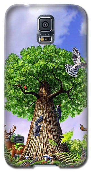 Rabbit Galaxy S5 Case - Tree Of Life by Jerry LoFaro