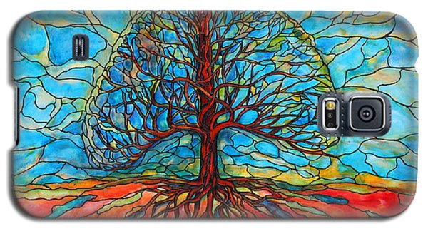 Galaxy S5 Case featuring the painting Tree Of Life by Rae Chichilnitsky