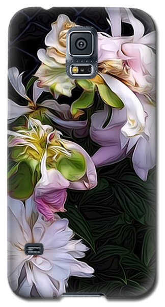 Galaxy S5 Case featuring the digital art Tree Peony by Alexis Rotella