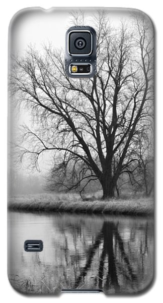 Tree Reflection In The Fox River On A Foggy Day Galaxy S5 Case