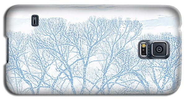 Galaxy S5 Case featuring the photograph Tree Silhouette Blue by Jennie Marie Schell