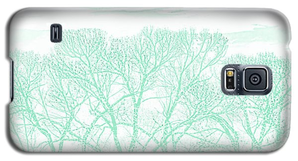 Galaxy S5 Case featuring the photograph Tree Silhouette Teal by Jennie Marie Schell