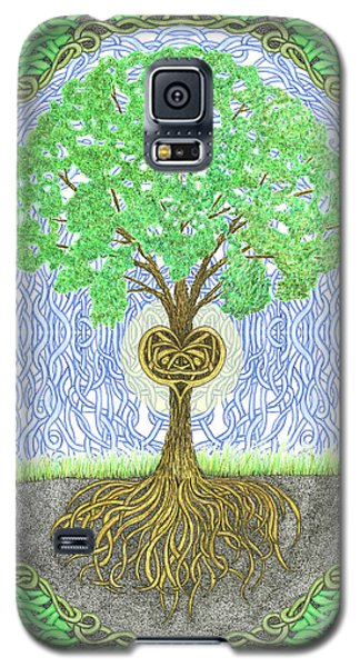 Tree With Heart And Sun Galaxy S5 Case