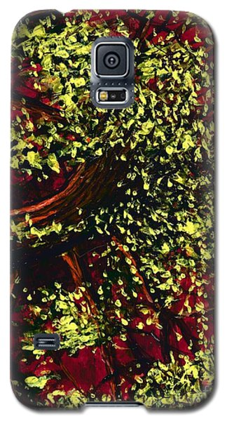 Tree With Red Sky Galaxy S5 Case