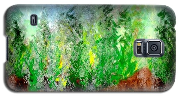 Galaxy S5 Case featuring the painting Trees 4 by John Krakora