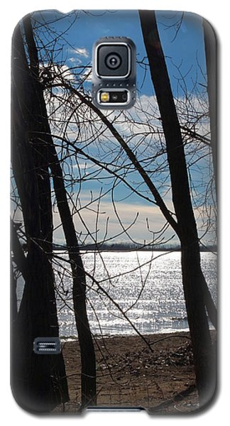 Galaxy S5 Case featuring the photograph Trees And Lake Reflections by Valentino Visentini