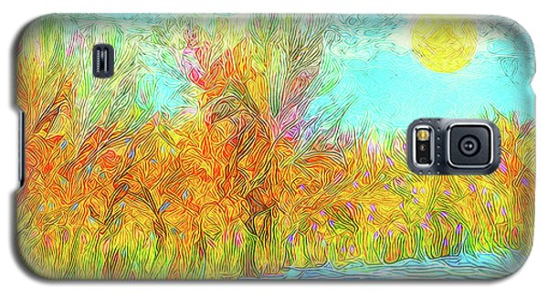 Galaxy S5 Case featuring the digital art Trees Flow With Sky - Boulder County Colorado by Joel Bruce Wallach