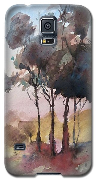 Galaxy S5 Case featuring the painting Trees by Geni Gorani