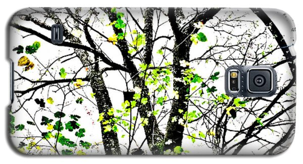 Trees Growing In Silo Abstract- Large Landscape Edition Galaxy S5 Case