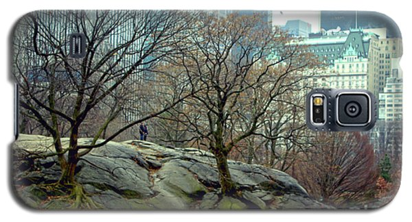 Galaxy S5 Case featuring the photograph Trees In Rock by Sandy Moulder