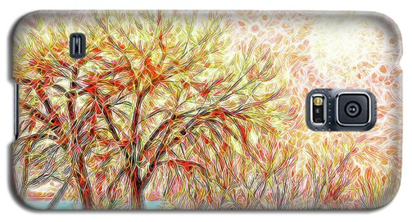 Galaxy S5 Case featuring the digital art Trees In Winter Under Full Moon At Dusk by Joel Bruce Wallach