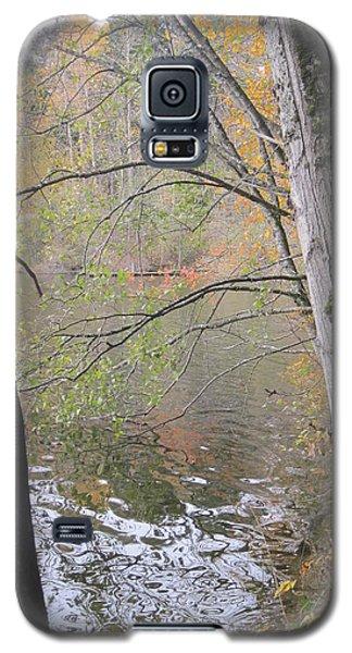 Galaxy S5 Case featuring the photograph Trees On Lake Padden by Karen Molenaar Terrell