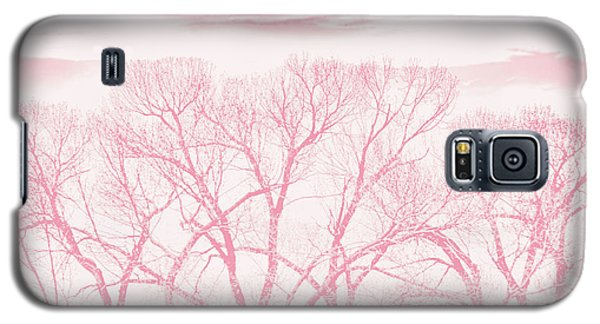 Galaxy S5 Case featuring the photograph Trees Silhouette Pink by Jennie Marie Schell