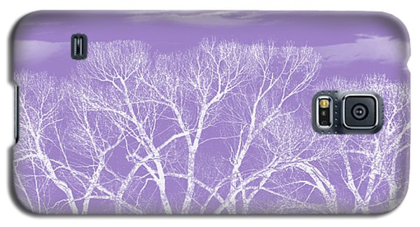 Galaxy S5 Case featuring the photograph Trees Silhouette Purple by Jennie Marie Schell