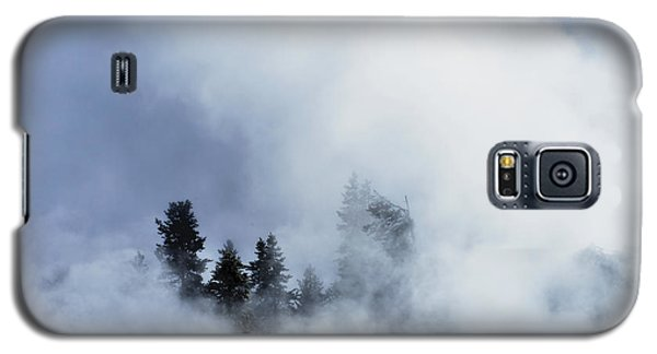 Galaxy S5 Case featuring the photograph Trees Through Firehole River Mist by Kae Cheatham