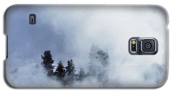 Trees Through Firehole River Mist Galaxy S5 Case by Kae Cheatham