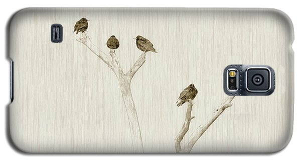 Treetop Starlings Galaxy S5 Case by Benanne Stiens