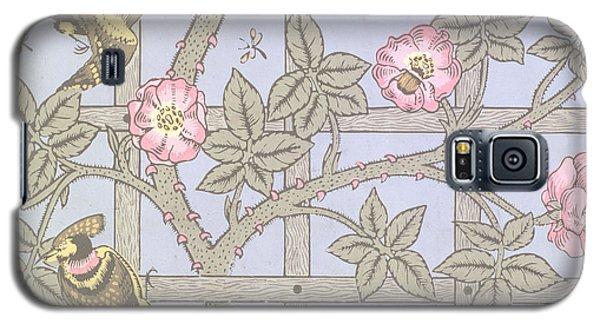 Trellis   Antique Wallpaper Design Galaxy S5 Case by William Morris