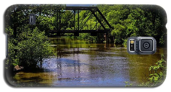 Galaxy S5 Case featuring the photograph Trestle Over River by Mark Myhaver