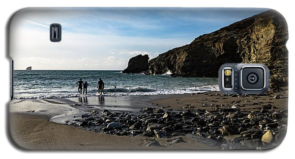 Galaxy S5 Case featuring the photograph Trevellas Cove by Brian Roscorla