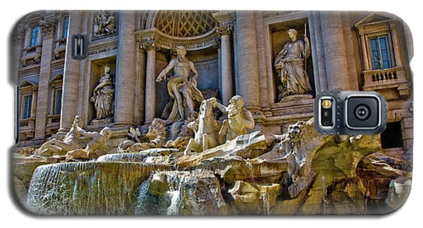 Galaxy S5 Case featuring the photograph Trevi Fountain From Right Side  by Harry Spitz