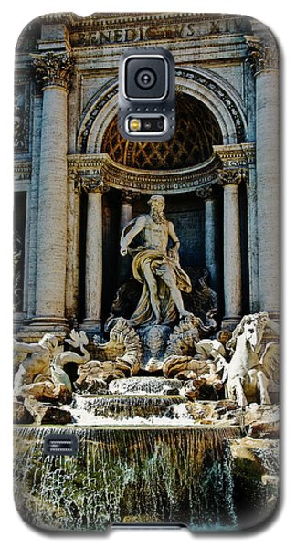 Galaxy S5 Case featuring the photograph Trevi Fountain Vertical  by Harry Spitz