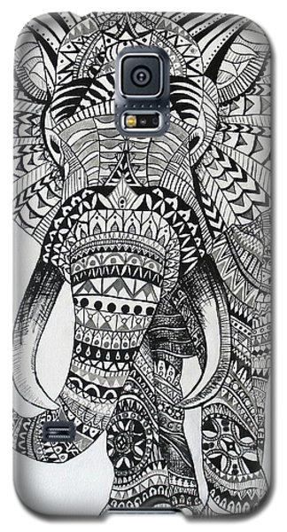 Galaxy S5 Case featuring the painting Tribal Elephant by Ashley Price