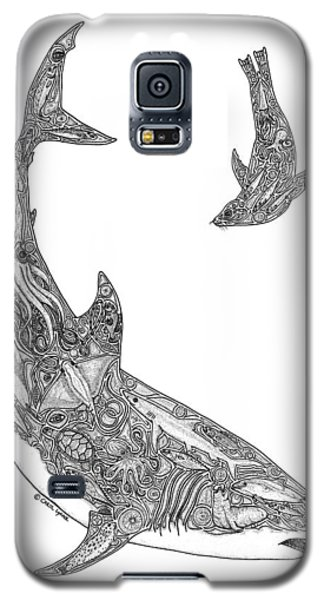 Tribal Great White And Sea Lion Galaxy S5 Case by Carol Lynne