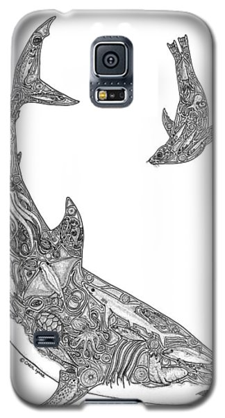 Tribal Great White And Sea Lion Galaxy S5 Case