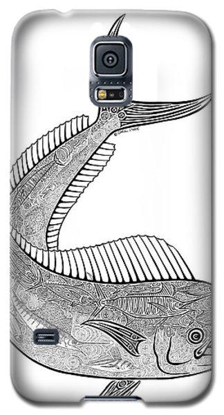 Sport Art Galaxy S5 Case - Tribal Mahi  by Carol Lynne