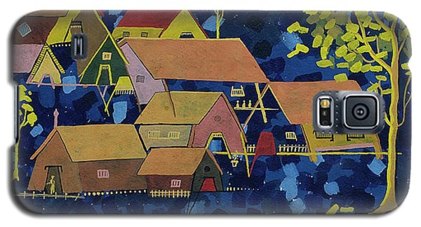Galaxy S5 Case featuring the painting Tribal Village by Vilas Malankar