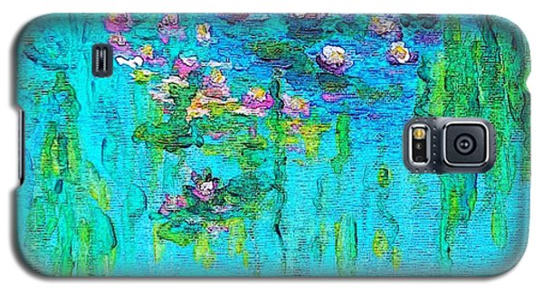 Galaxy S5 Case featuring the painting Tribute To Monet by Holly Martinson