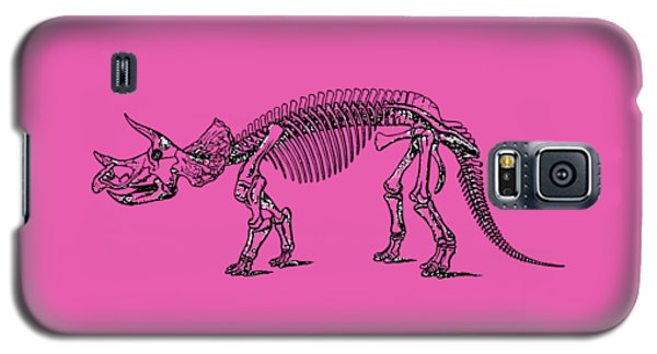 Triceratops Dinosaur Tee Galaxy S5 Case by Edward Fielding