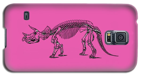 Triceratops Dinosaur Tee Galaxy S5 Case by Edward Fielding