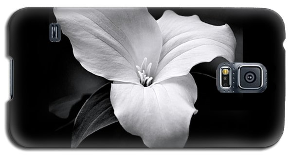 Galaxy S5 Case featuring the photograph Trillium Black And White by Christina Rollo
