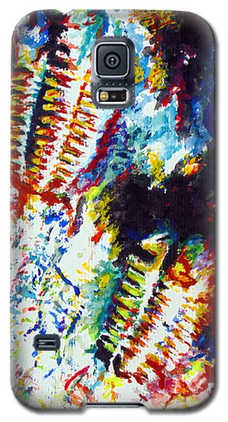 Galaxy S5 Case featuring the painting Trilobite by Daniel Janda