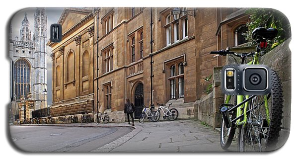 Galaxy S5 Case featuring the photograph Trinity Lane Clare College Cambridge Great Hall by Gill Billington
