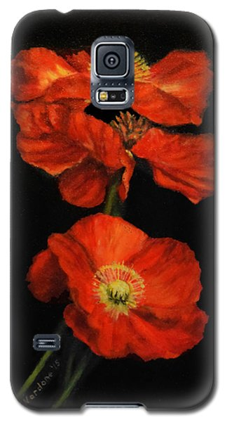 Poppy Trio Galaxy S5 Case by Sandra Nardone