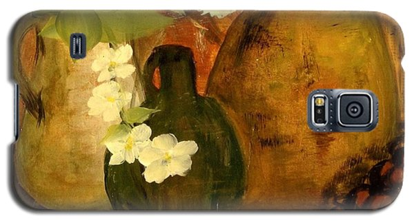 Galaxy S5 Case featuring the painting Trio Vases by Kathy Sheeran