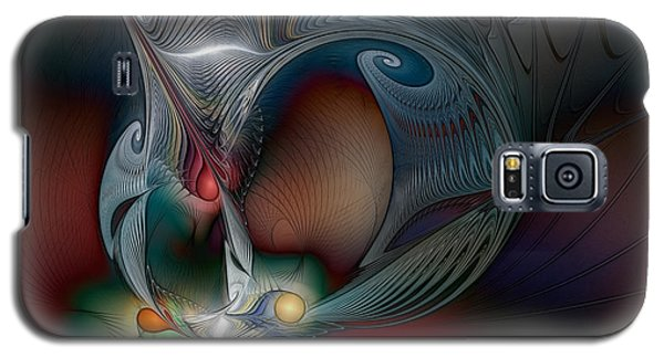 Galaxy S5 Case featuring the digital art Trip Into Unknown by Karin Kuhlmann