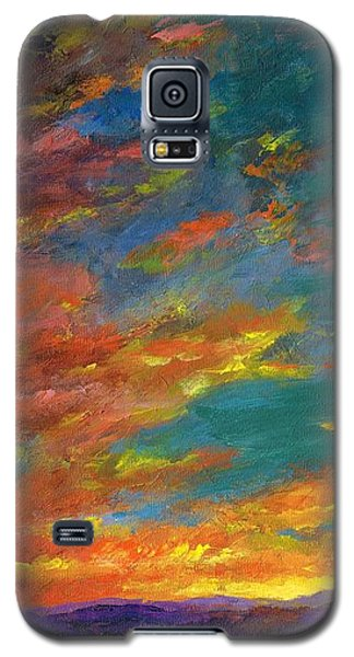 Triptych 1 Desert Sunset Galaxy S5 Case by Frances Marino